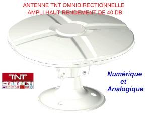 Antenne TNT camping car , caravane omnidirectionnelle 40DB TONNA