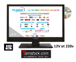 télévision TV HD DVD 19.5' + démo satellite FRANSAT sans carte