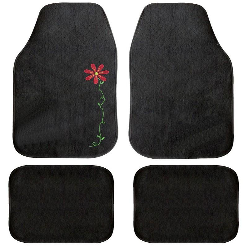 tapis de sol voiture motif flower universels. Black Bedroom Furniture Sets. Home Design Ideas