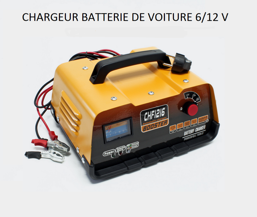 chargeur de batterie voiture 6 12v avec fonction booster. Black Bedroom Furniture Sets. Home Design Ideas
