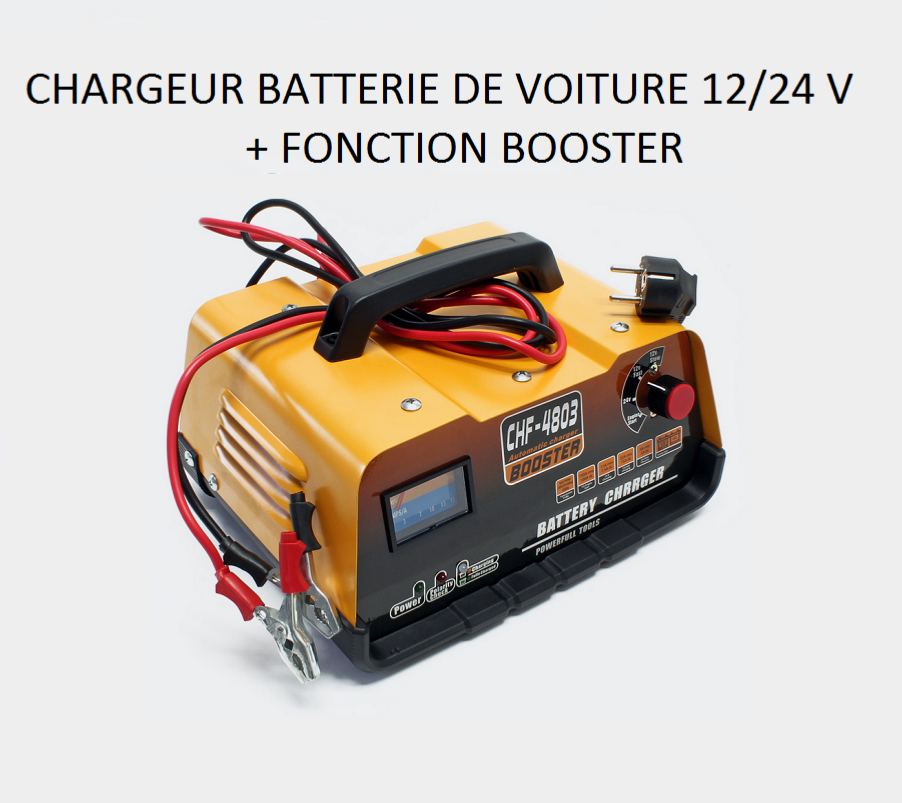 chargeur de batterie voiture 12 24 avec fonction booster. Black Bedroom Furniture Sets. Home Design Ideas