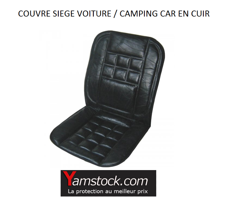 couvre siege de voiture auto en cuir noir. Black Bedroom Furniture Sets. Home Design Ideas