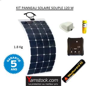 kit panneau solaire souple 120w pour camping car. Black Bedroom Furniture Sets. Home Design Ideas