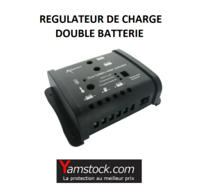 r gulateur de charge 12v double batterie pour panneau. Black Bedroom Furniture Sets. Home Design Ideas
