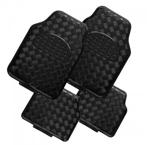 tapis de sol voiture alu avec effet noir mat. Black Bedroom Furniture Sets. Home Design Ideas