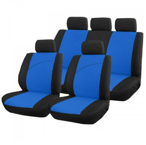 housse pour siege de voiture bleu et noir victoire. Black Bedroom Furniture Sets. Home Design Ideas