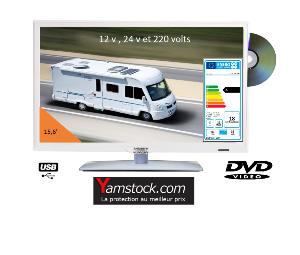 t l vision camping car led 12 v et 220 v et combin tv. Black Bedroom Furniture Sets. Home Design Ideas