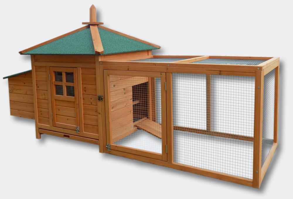 poulailler clapier cage pour poule ou lapin en bois. Black Bedroom Furniture Sets. Home Design Ideas