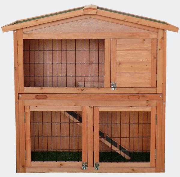 clapier grand espace cabane pour lapin ou rongeur. Black Bedroom Furniture Sets. Home Design Ideas