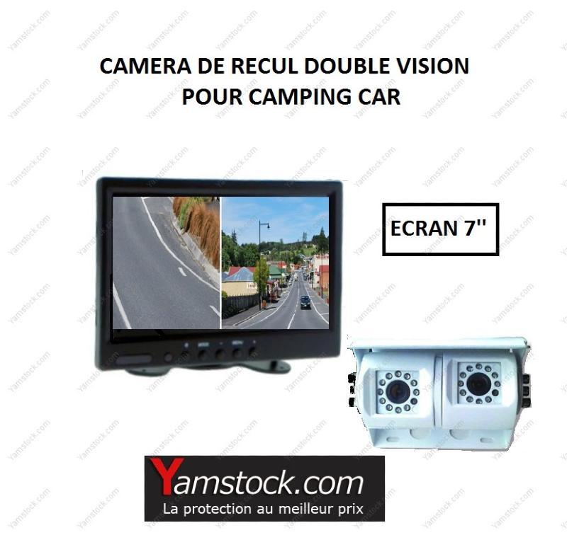 pack camera de recul double objectif cran 7 39 camping car. Black Bedroom Furniture Sets. Home Design Ideas