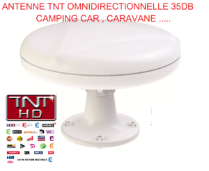 Antarion Antenne TNT 35DB camping-car Omnidirectionnelle , caravane