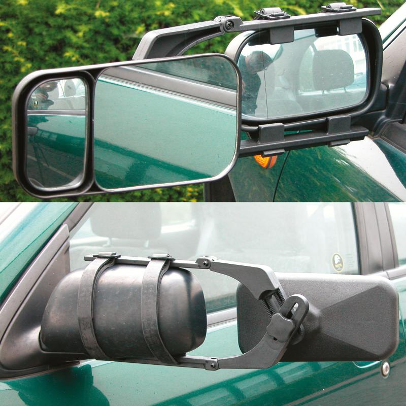 Retroviseur caravane reglable pour voiture caravane double for Miroir pour voiture