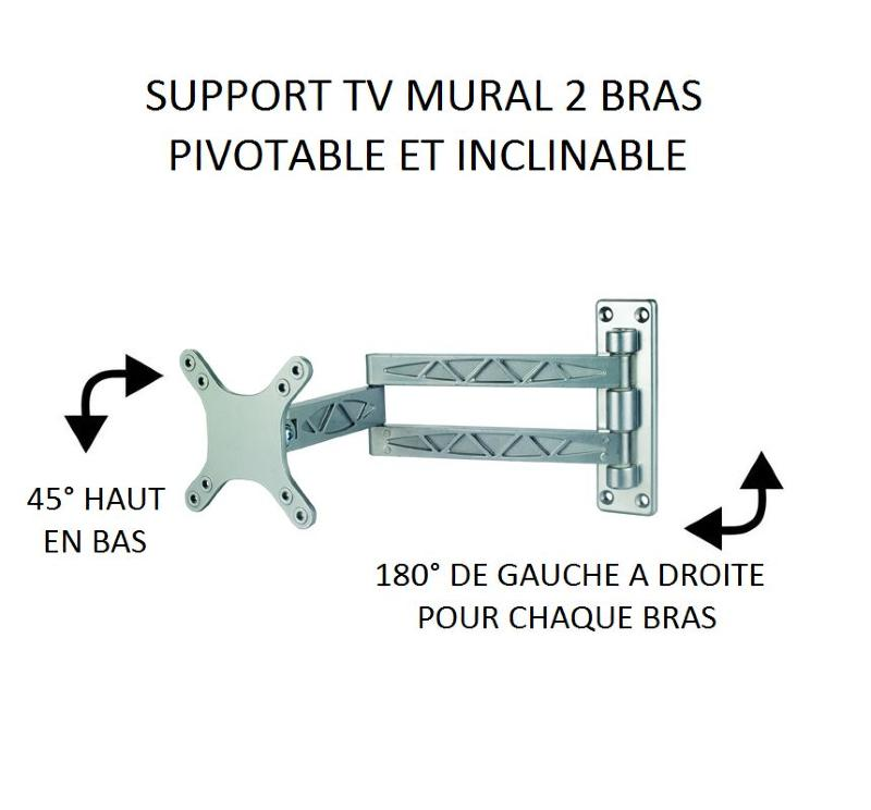 Support mural tv bras articule 28 images pylehome for Mural vision tv