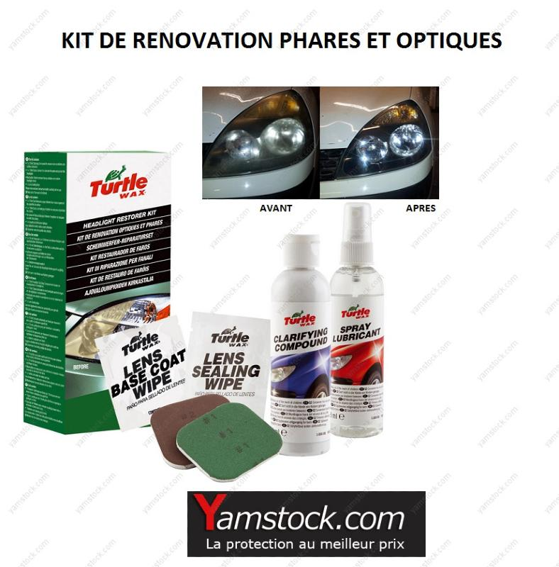 kit de r novation optique de phare turtle wax. Black Bedroom Furniture Sets. Home Design Ideas