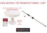 Antarion Pack antenne TNT omnidirectionnelle 35 Db + Mât d'antenne