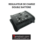 Antarion Régulateur de charge 12v , double batterie