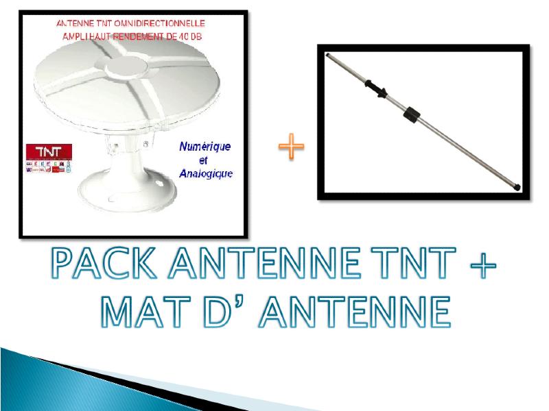 pack antenne tnt omnidirectionnelle 40db m t d 39 antenne. Black Bedroom Furniture Sets. Home Design Ideas