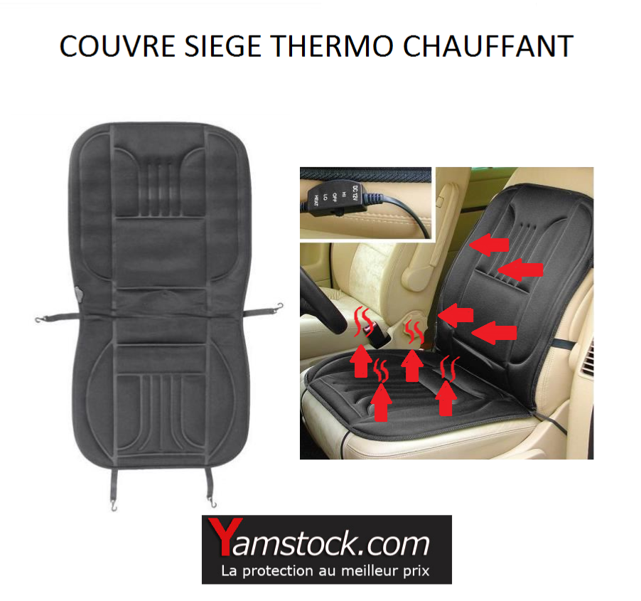 housse couvre sieges thermo chauffant 12 voiture camping car. Black Bedroom Furniture Sets. Home Design Ideas