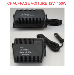 chauffage ceramique 150w pour voiture camping car. Black Bedroom Furniture Sets. Home Design Ideas