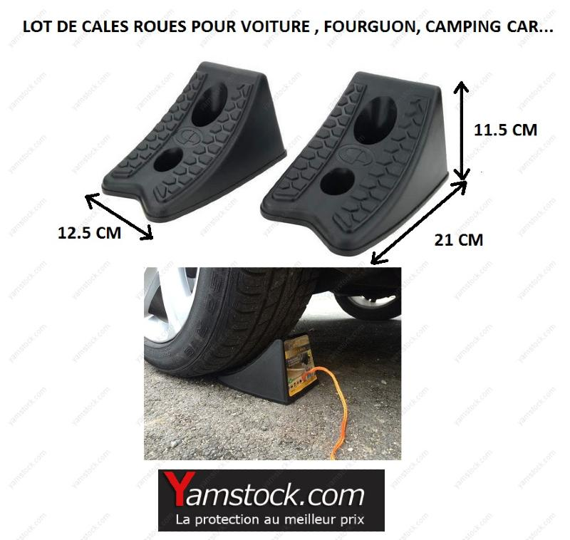 2 cales roues pour voiture fourgon camping car. Black Bedroom Furniture Sets. Home Design Ideas