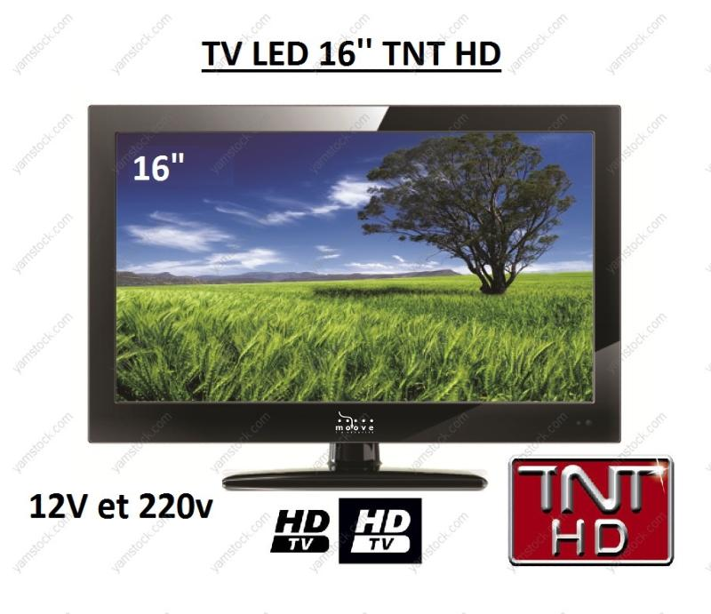t l vision tv hd led 40 6 cm pour camping car 12v. Black Bedroom Furniture Sets. Home Design Ideas