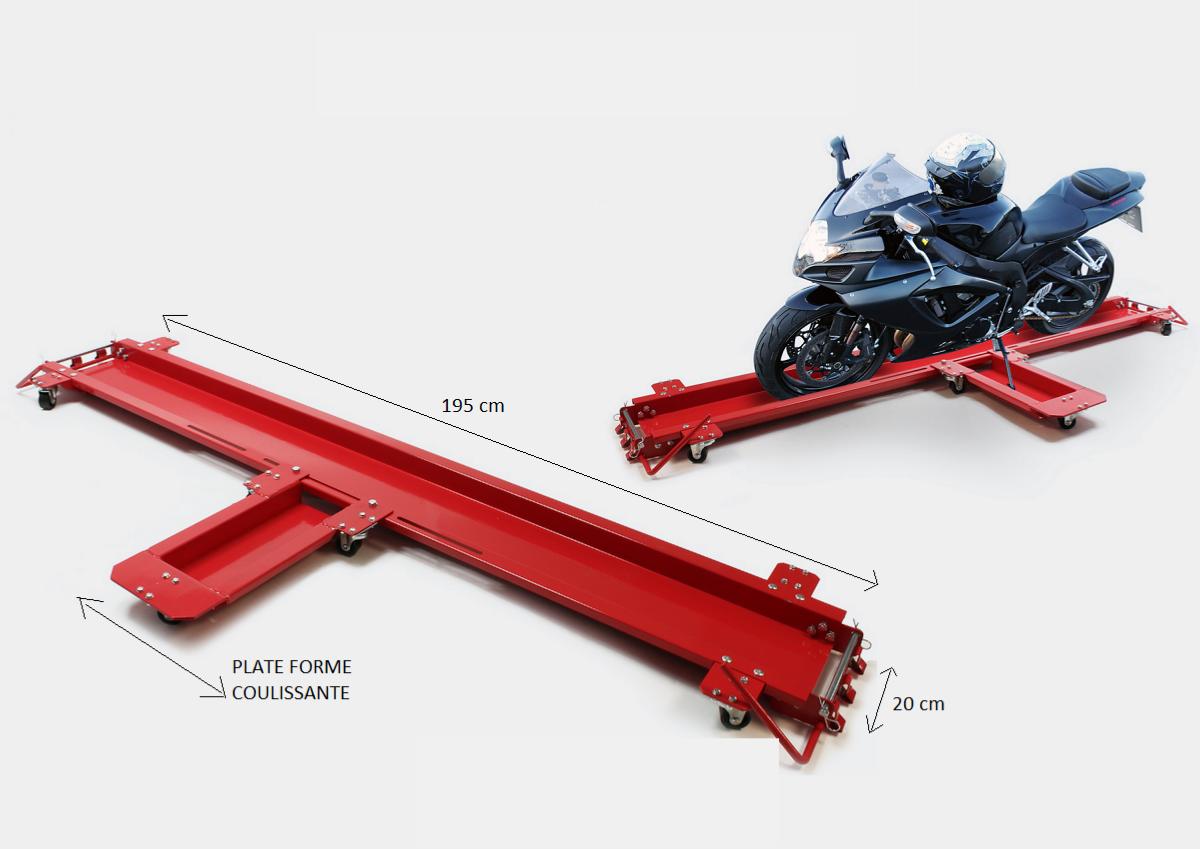 chariot deplace et range moto jusqu 39 a 567 kg. Black Bedroom Furniture Sets. Home Design Ideas