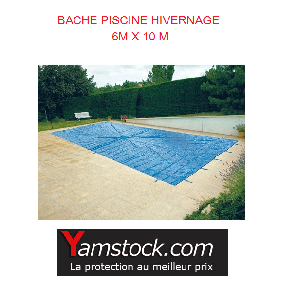 Bache de piscine hivernage 6x10 m disponible chez for Bache filet hivernage piscine