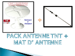 Antarion Pack Antenne TNT omnidirectionnelle + Mât d'antenne