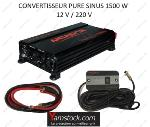 Convertisseur de tension pur sinus 1500w 12v / 220v