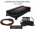 Convertisseur de tension pur sinus 2000w 12v / 220v