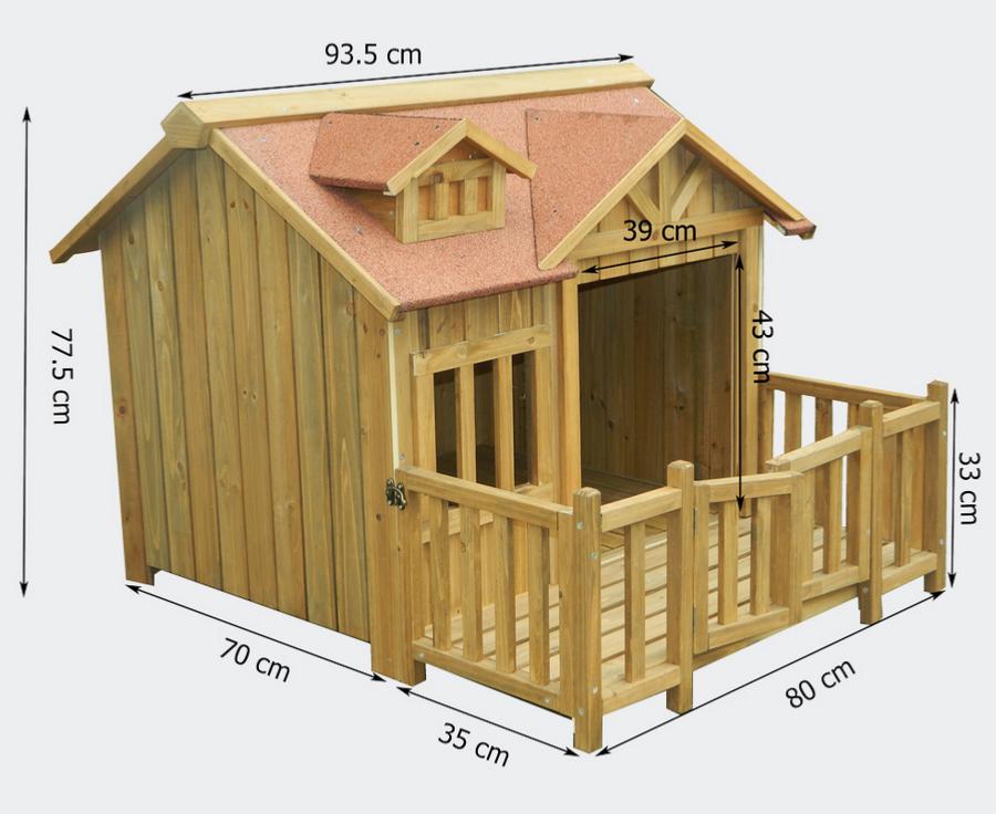niche a chien xl ou chenil en bois. Black Bedroom Furniture Sets. Home Design Ideas